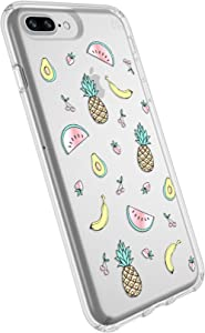 Speck Products Presidio Clear+Print Cell Phone Case for iPhone 8 Plus/7 Plus/6S Plus/6 Plus - ONE in A Melon Gold/Clear