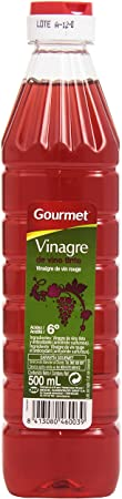 Gourmet - Vinagre de vino tinto - Acidez 6 grados - 500 ml