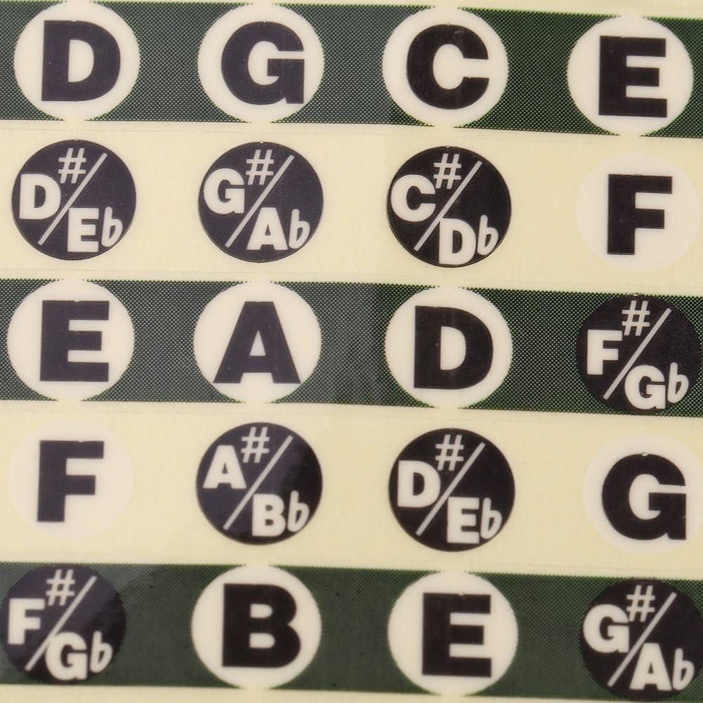 Adesivo Nota Tastiera Yisentno Parti di Chitarra 1Pcs Tastiera Nota Decalcomanie Etichetta Scala Musicale per Principianti Pratica Principianti Note di Chitarra Decalcomanie Strumento Adesivo