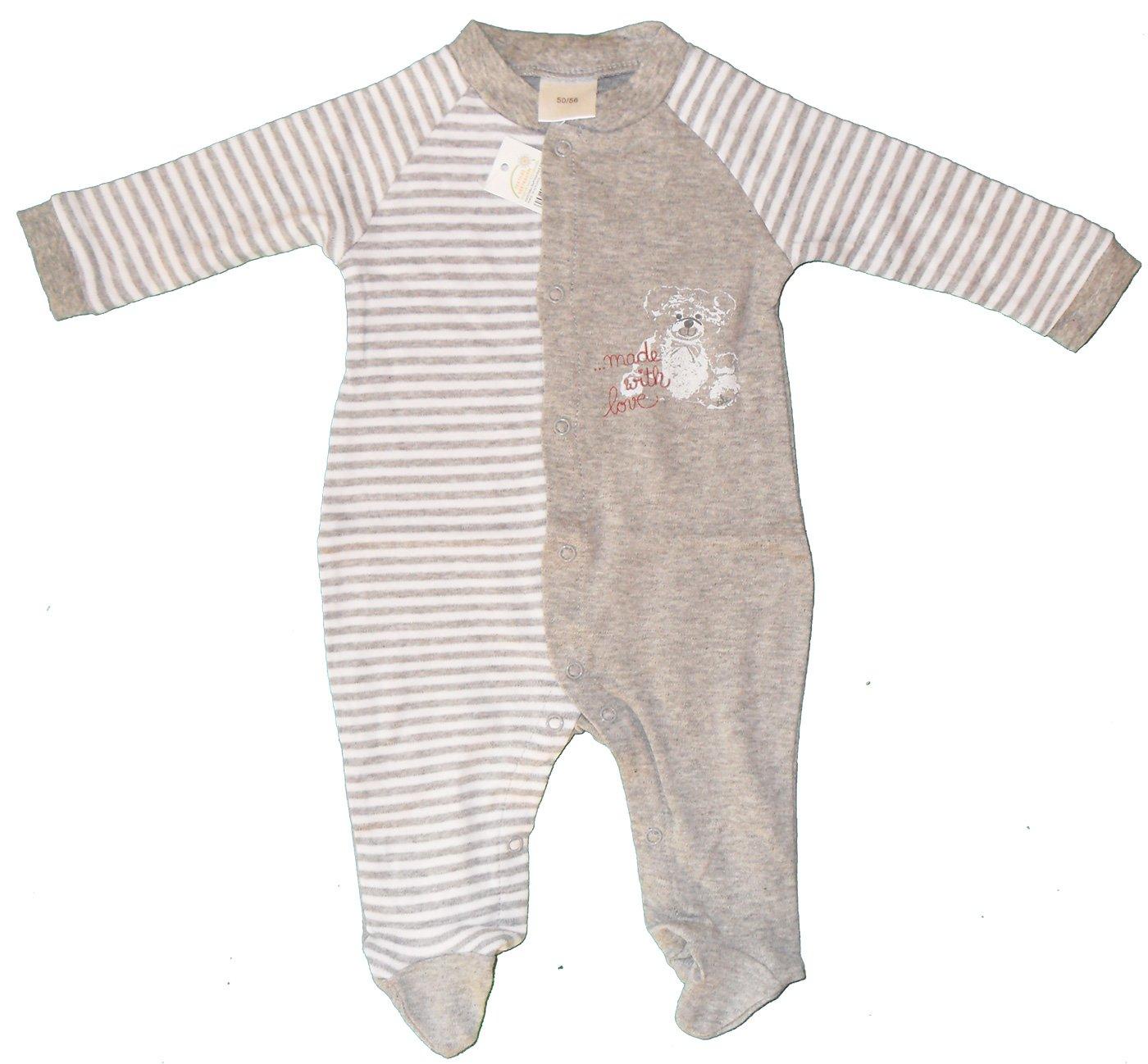 Baby Schlafanzug, Schlafstrampler, Schlafoverall 100% Baumwolle, Jersey, ÖKOTEX (50/56, blau) ÖKOTEX (50/56 KH-Haushaltshandel