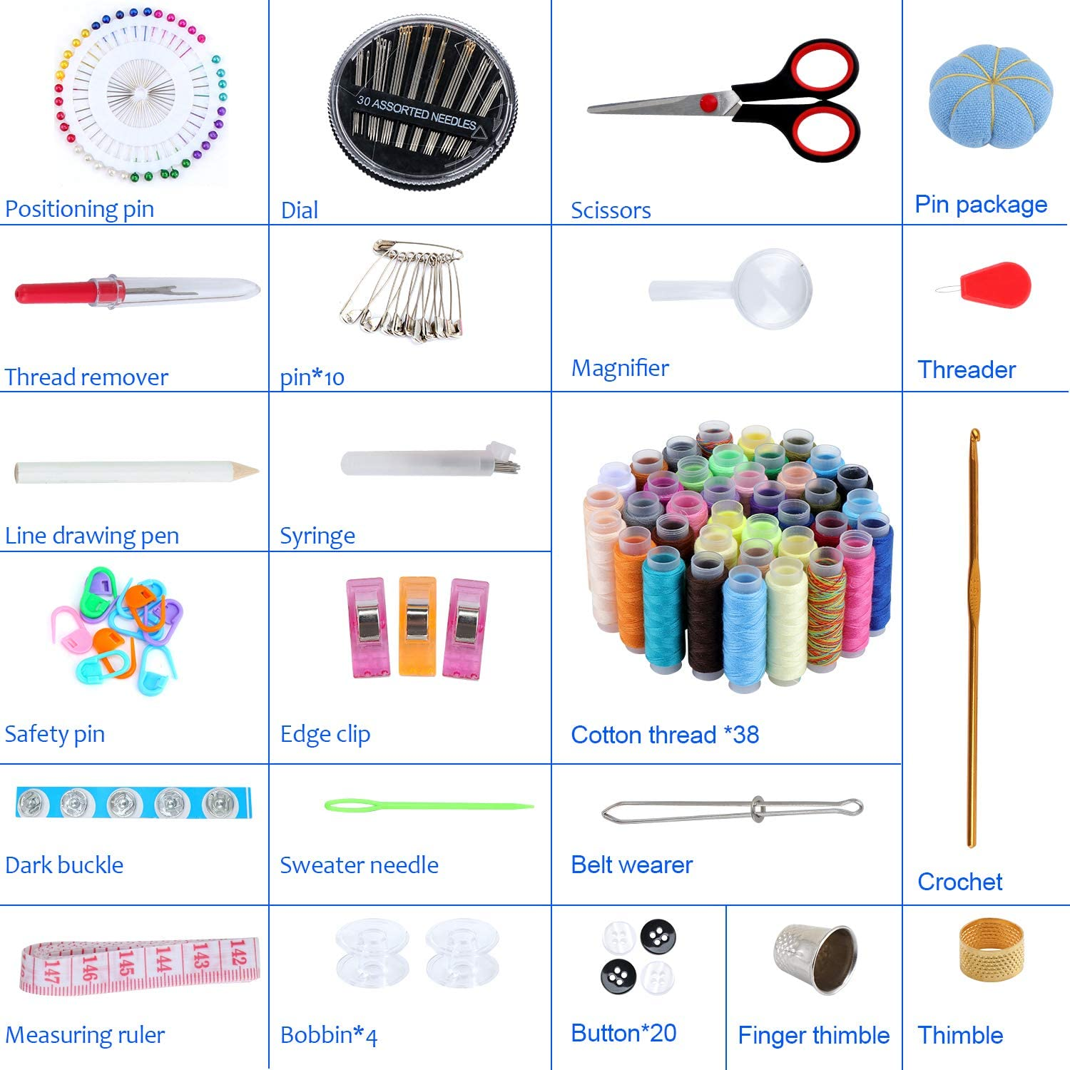 Premium Sewing Accessories for Travel Home Beginners Emergency Adults Kids Camping TsunNee 183 Pieces Sewing Kit DIY Sewing Supplies with 38 XL Thread