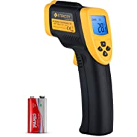 Etekcity Digital Infrared Thermometer Laser Temperature Gun Non-contact -58℉ ~ 1382℉ (-50℃ to 750℃), Instant Read Laser Thermometer for Kitchen Cooking BBQ Meat Food Refrigerator Oven Pool