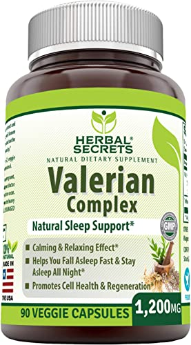Herbal Secrets Valerian Complex 1200Mg 90 Veggie Capsules