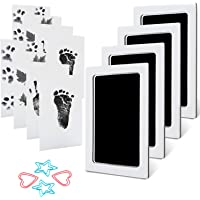 MengNi Baby Footprint Handprint Pet Paw Print Kit with 4 Ink Pads and 8 Imprint Cards