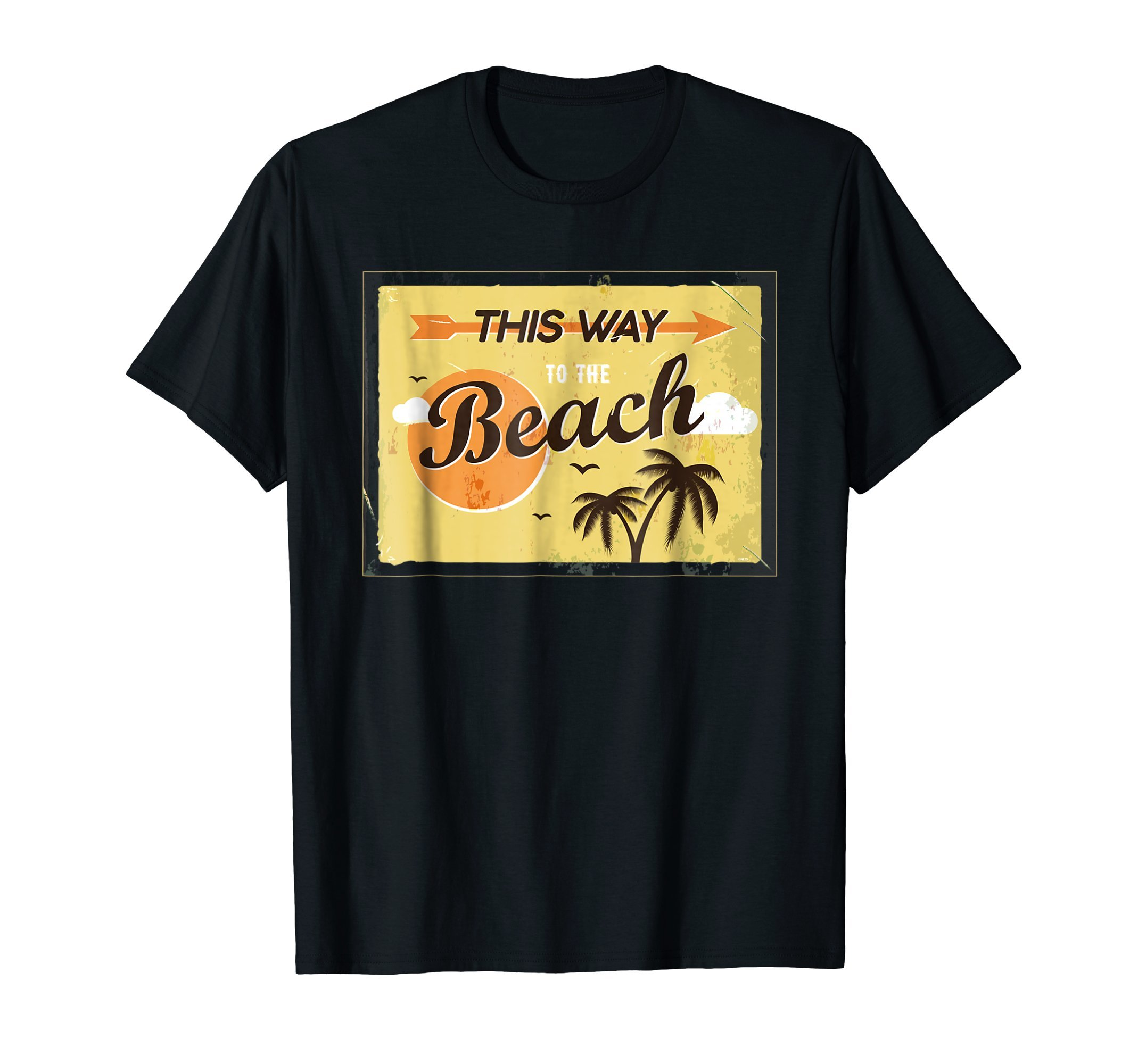 This-Way-to-the-Beach-Retro-Vintage-T-Shirt-Gift-Tee-Shirt