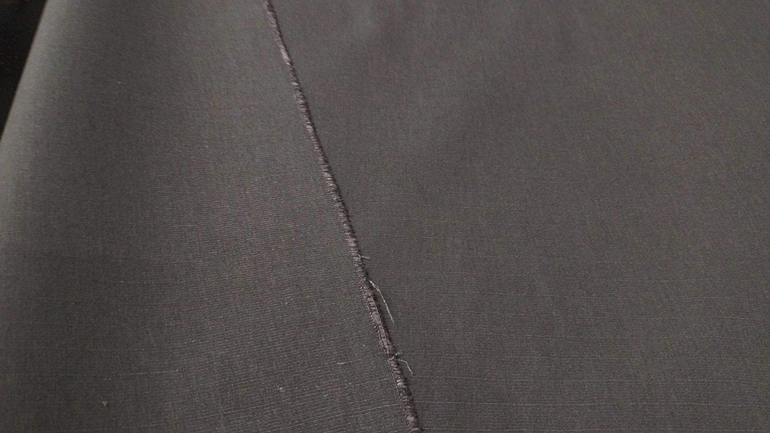 """Cotton Poly Ripstop Fabric Charcoal Grey 64/""""W Apparel Durable Cotton Blend DWR"""