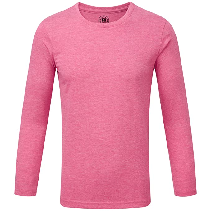 3bcfc228 Russell Boys Long Sleeve T-Shirt - Pink Marl - 5-6 Years /