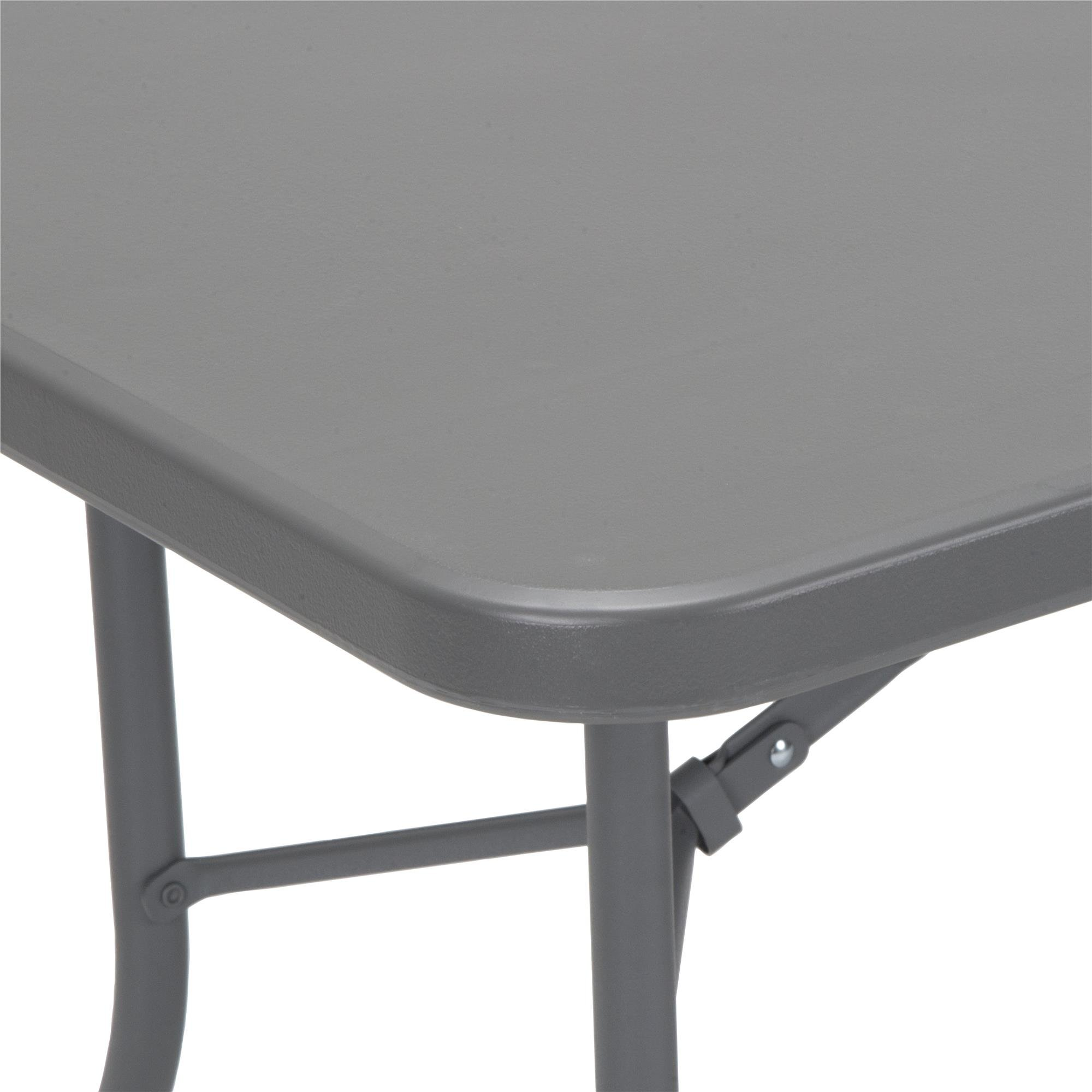 Cosco 6' Signature Series Blow Mold Centerfold Table, Gray by Cosco (Image #13)