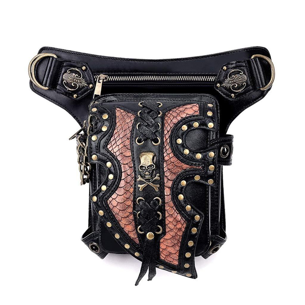 SXLLショルダーバッグ ウエストバッグヴィンテージメッセンジャーバッグショルダーバッグトラベルファッションバッグ (色 : 黒) B07P1Y47HM 黒