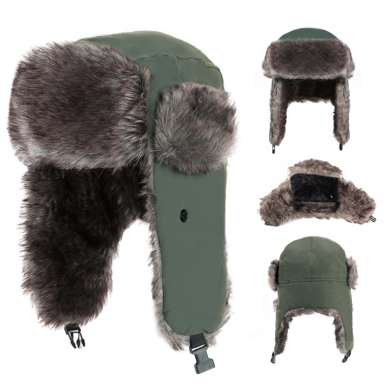 Yesurprise Trapper Warm Russian Trooper Fur Earflap Winter Skiing Hat Cap Women Men Windproof by Yesurprise (Image #3)