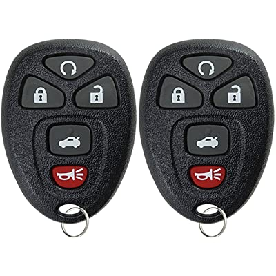 KeylessOption Keyless Entry Remote Start Control Car Key Fob Replacement for 22733524 (Pack of 2): Automotive