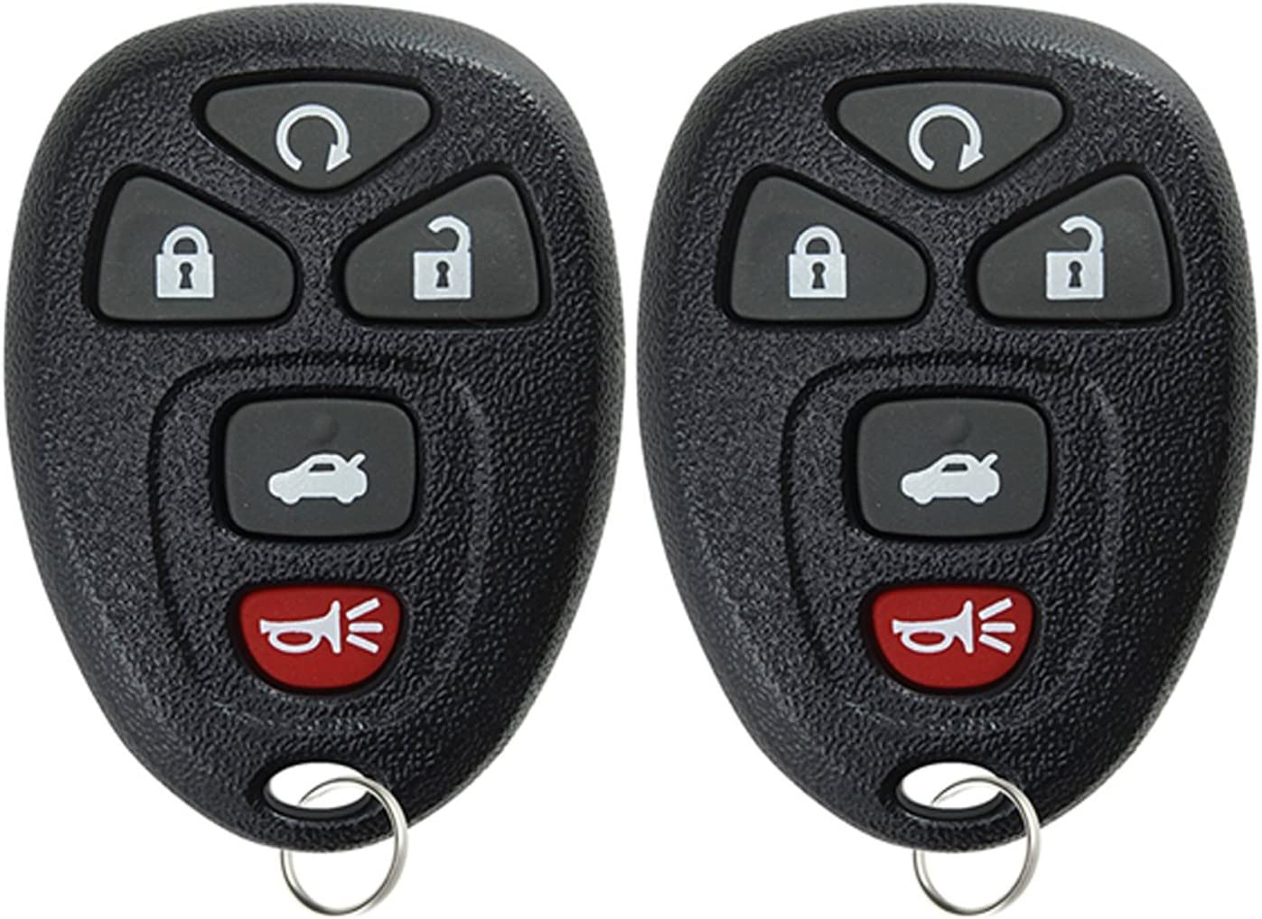 KeylessOption Keyless Entry Remote Start Control Car Key Fob Replacement for 22733524 Pack of 2
