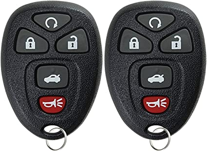 Keyless Entry Remote >> Keylessoption Keyless Entry Remote Start Control Car Key Fob Replacement For 22733524 Pack Of 2