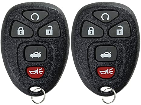 Car Remote Key >> Keylessoption Keyless Entry Remote Start Control Car Key Fob Replacement For 22733524 Pack Of 2