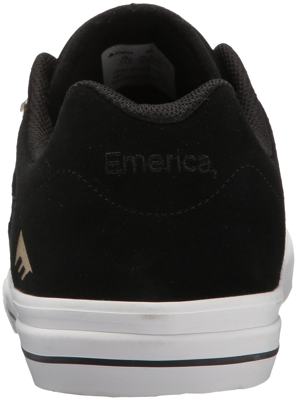 a830809bcb4b5 Zapatillas de skate Vulc Reynolds 3 G6 de Emerica para hombre Negro   Blanco    Dorado