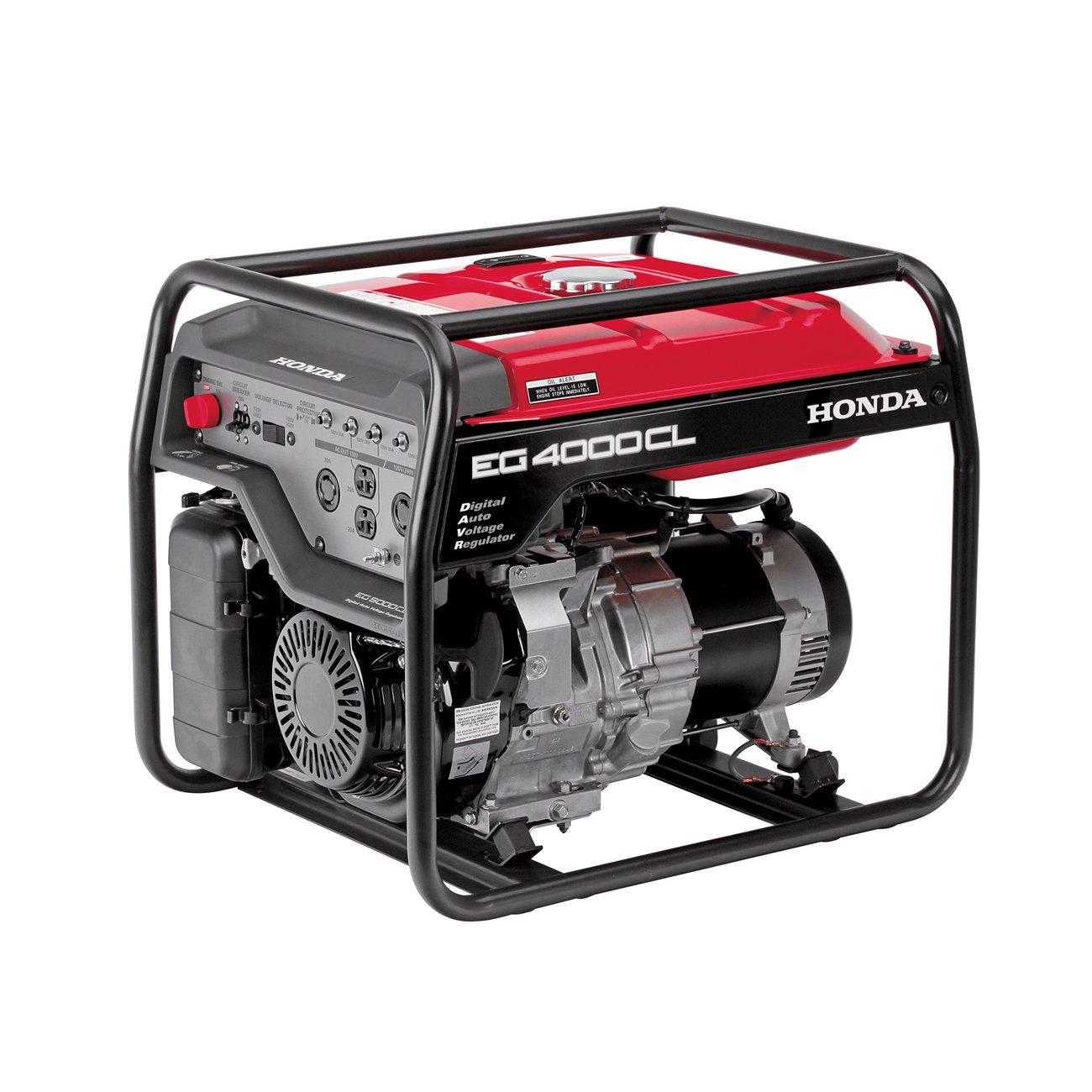 Honda 4, 000 Watt Gas Powered Home RV Portable Generator EG4000