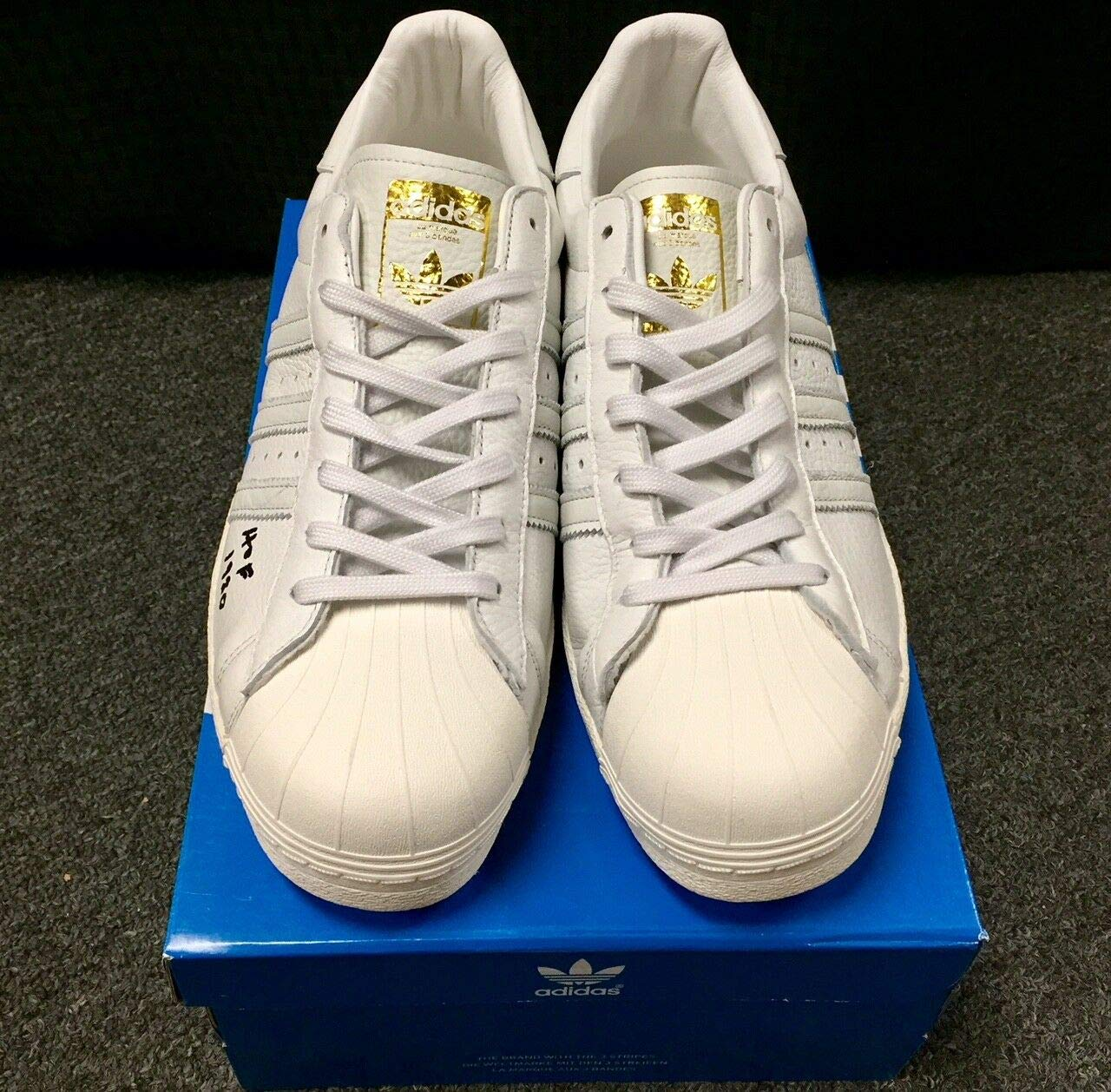 0a4c3f944a3a9 Jerry West Autograph Hof 1980 Autographed Signed Adidas Shoes With ...