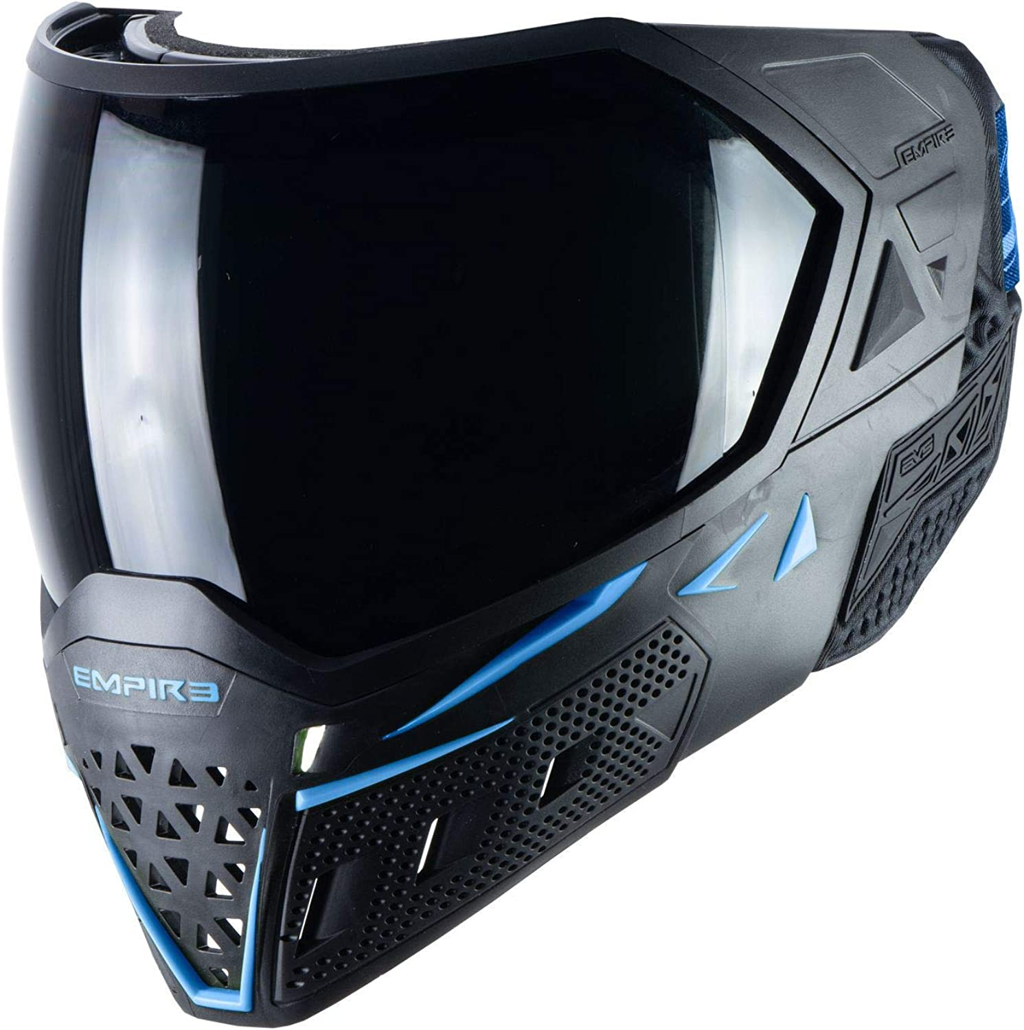 Empire EVS Thermal Paintball Mask - Black / Navy : Clothing
