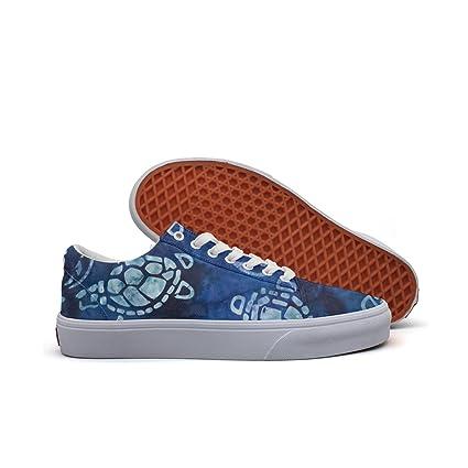 15932a9c56756 Amazon.com: SERXO Sea Turtles Blue Women's Casual Shoes Canvas ...