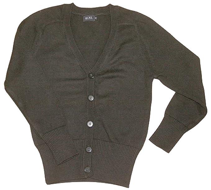 CKL Las niñas de la Escuela Chaqueta Uniforme Lana Mezcla de algodón de Punto Cardigans: Amazon.es: Ropa y accesorios