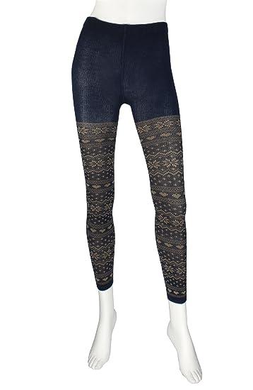 54ed5eb92429 Amazon.com  Valentino Rudy Women s Knitted Heart Pattern Leggings ...