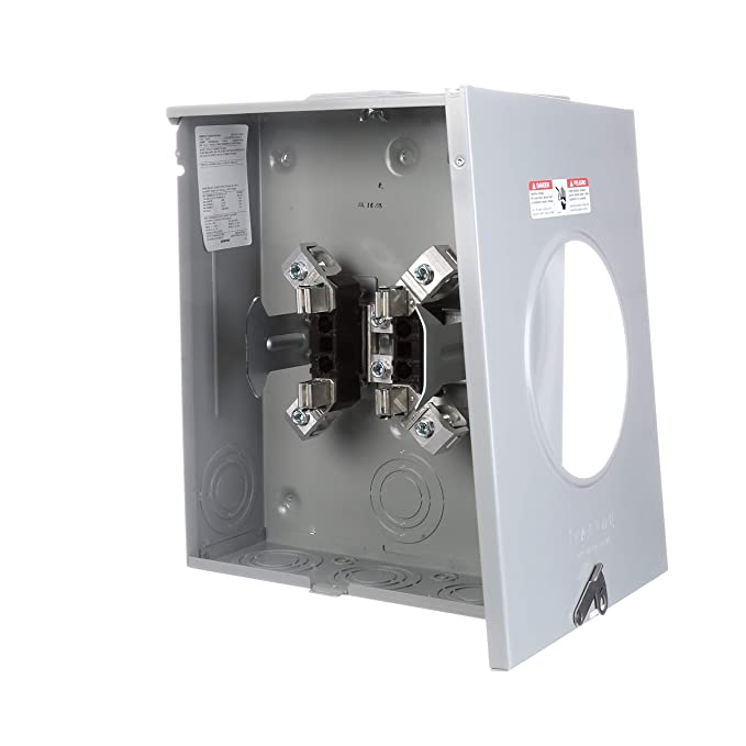 Siemens SUAT417-XGF 200-Amp Overhead or Underground Feed Meter Socket with Ringless Meter Cover and Barrel Lock