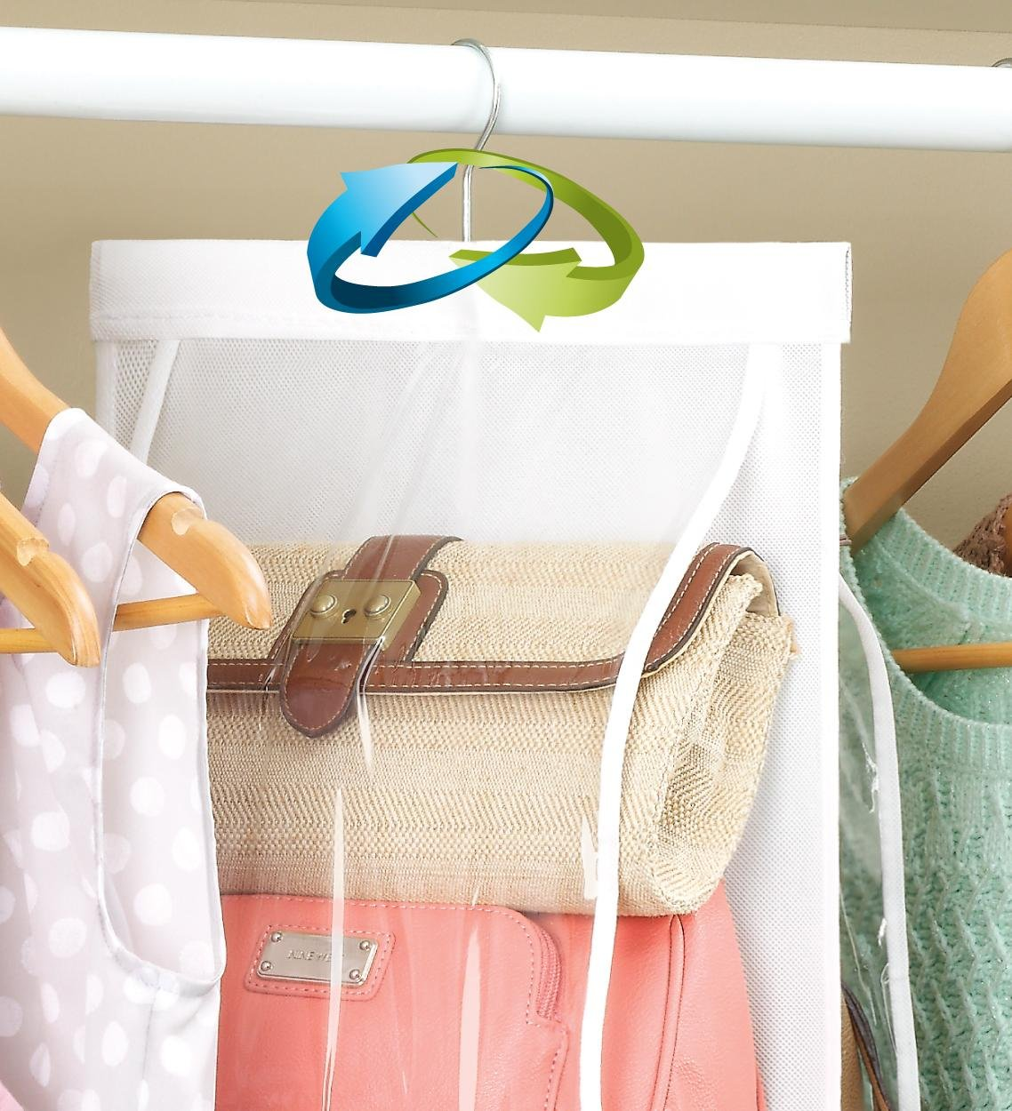 8 Clear Pocket Handbag Organizer
