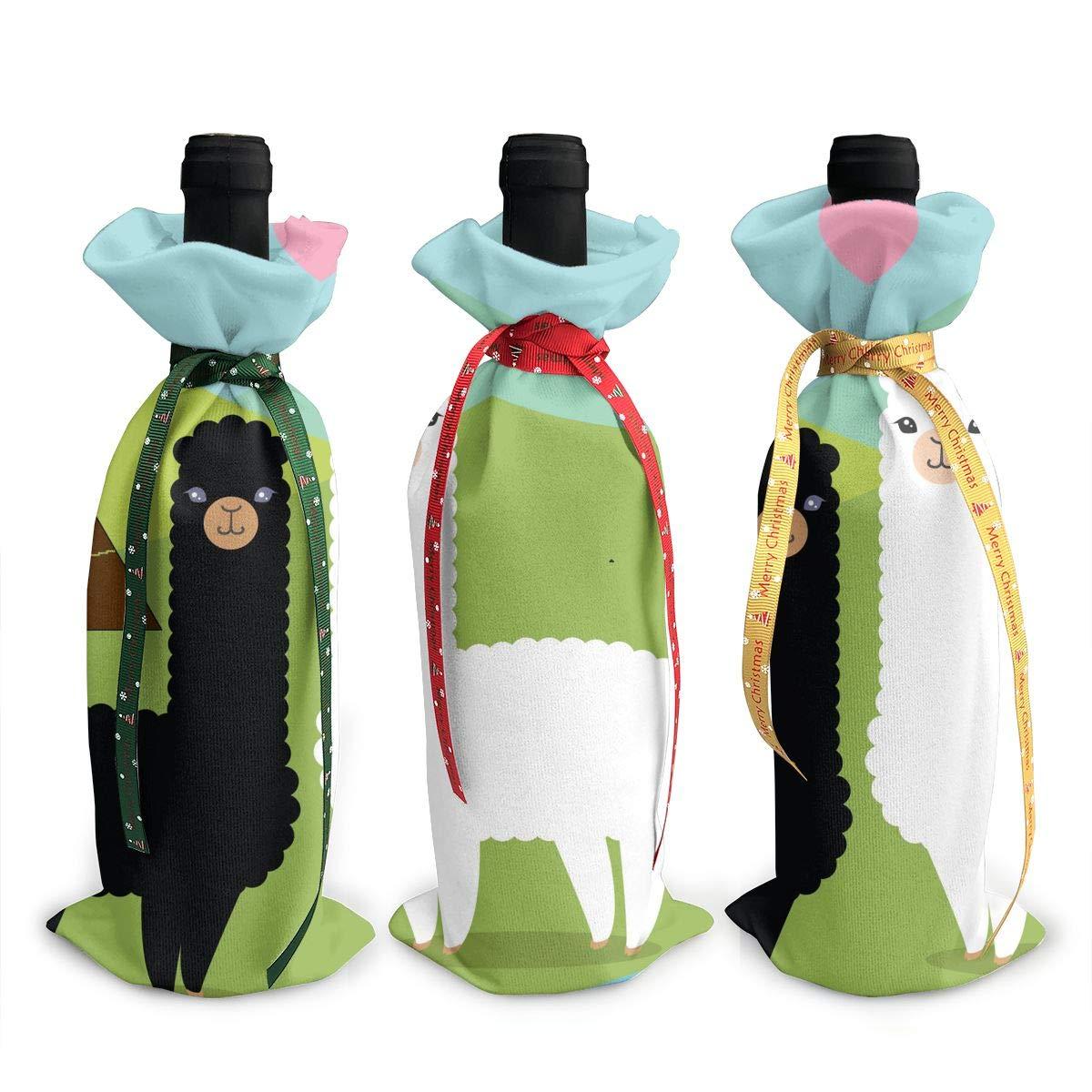 アルパカ ワイン トートキャリアバッグ 旅行/キャンプ/ピクニック用パース 3個セット B07K4SKN1R