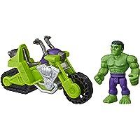 Super Hero Adventures Playskool Heroes Marvel Moto-Tanque de Hulk - Set de Figura de 12,5 cm y Moto - Edad: 3+