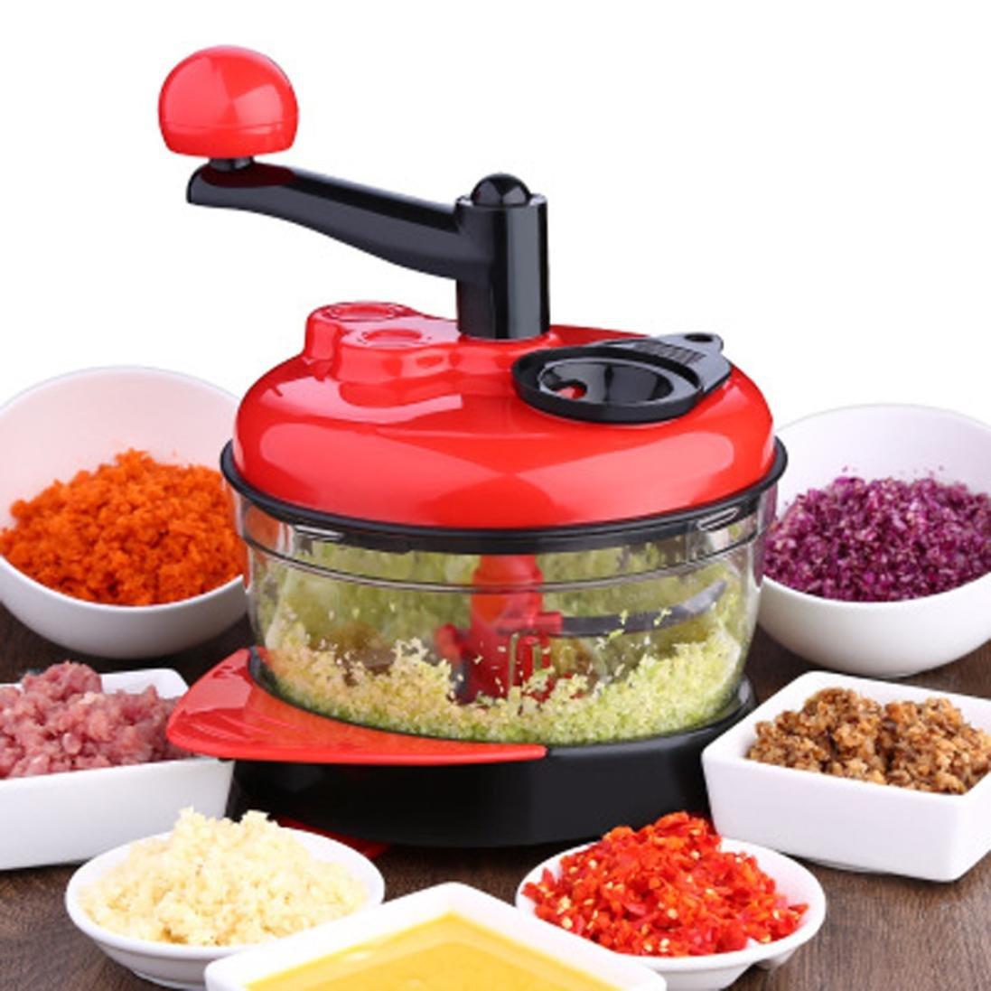 Multi-function Manual Food Processor Meat Grinder Vegetable Chopper Eggs Separator Kitchen Helper Gessppo