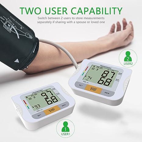 Home maxs Tensiómetro con ärmelaufschlag ajustable, brazo de diseño con pantalla digital Pantalla grande, Preciso, portátil Carcasa, FDA Socio: Amazon.es: ...