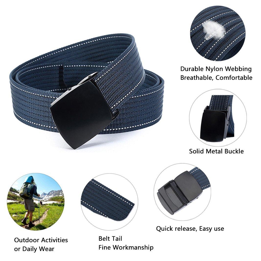 ITIEZY Ceinture Boucle Plastique Homme Nylon Noir (Decontractee Mode), Boucle  Noire 1-sangle Blue, jusqu a 125 cm  Amazon.fr  Vêtements et accessoires 6efe1b1c1a2