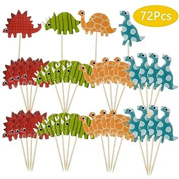 Vordas Welecoco Topper de Tarta,72 Piezas Pastel Topper Tarta Cupcake Topper de Tarta Palo de Magdalena Cupcake Topper Pincho Decoración para Pastel ...