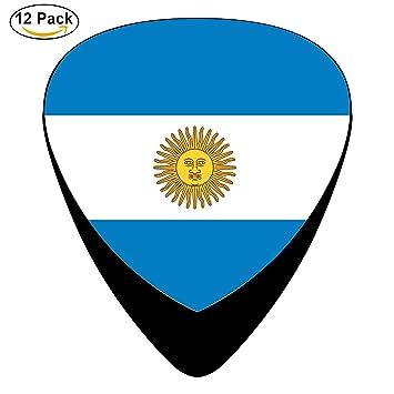 Bandera de Argentina Arg Púas para guitarra celuloide para guitarra eléctrica, guitarra acústica, mandolina, Bass Negro para Halloween música, ...