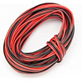 20 Gauge 2Pin Extension Wrie, EvZ 20AWG 2 Conductor Parallel Electric Cable Cord for Led Strips Single Color 3528 5050, Red B