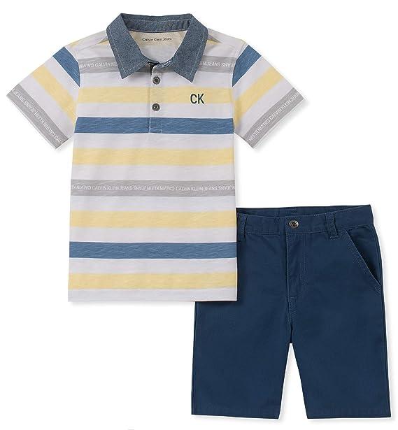 Calvin Klein - Conjunto de 2 piezas con pantalones cortos y polo ...