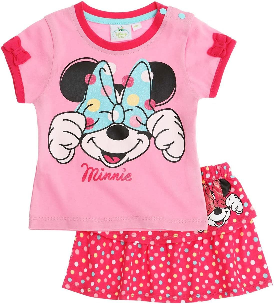 Conjunto de falda, camiseta de manga corta para bebé, diseño de ...