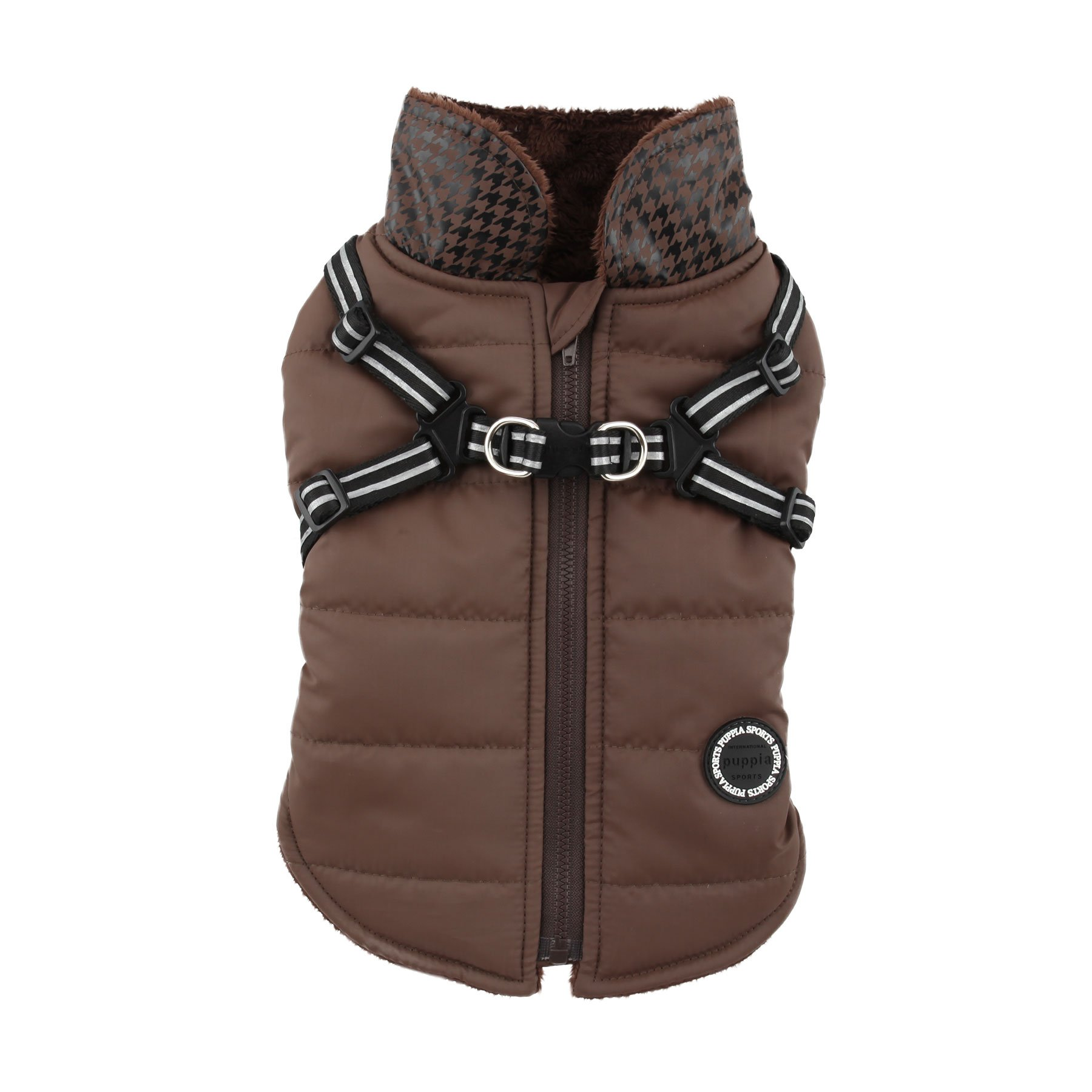Puppia Authentic Storm Winter Vest, XX-Large, Brown