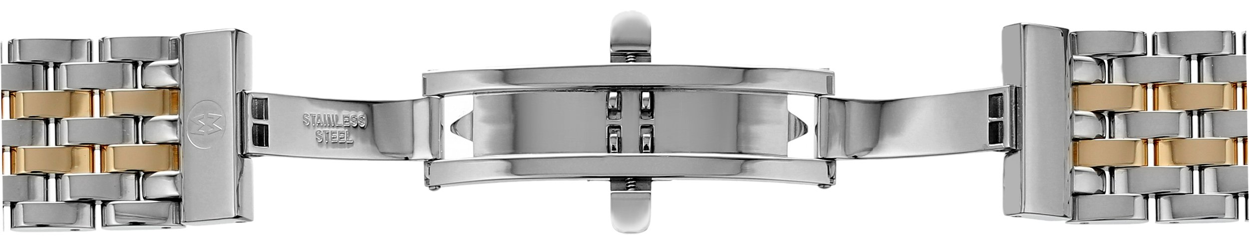 MICHELE MS16DM285048 Deco 16 16mm Stainless Steel Two Tone Watch Bracelet by MICHELE (Image #3)