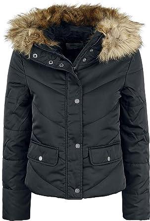 d9d6cc0e35bfd Noisy May Simona L S Short Jacket Winter Jacket Black  Amazon.co.uk   Clothing