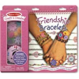 Melissa & Doug Craft and Create Friendship Bracelet Set With Mini Loom, 8 Beads, and 6 String Colors