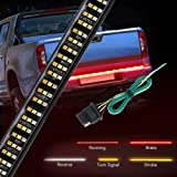 "Wigbow 60"" Tailgate Light Bar 504LED Triple Row Running Brake Reverse Turn Signal Tail Lights Strip Waterproof + Free 4…"