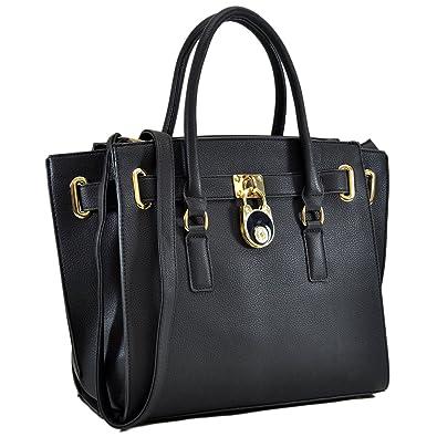 9bdb78e2b Amazon.com: Dasein Handbags for Women Large Tote Purse Padlock Satchel  Handbag Briefcase: Shoes