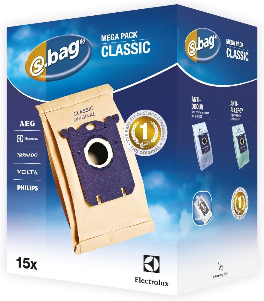 Electrolux E200M - Pack de 15 bolsas para aspiradoras: Amazon.es: Hogar