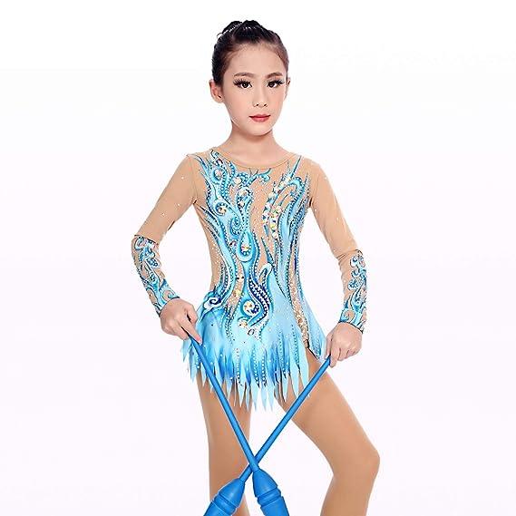 Amazon.com: Kmgjc - Maillot de gimnasia rítmica, de secado ...