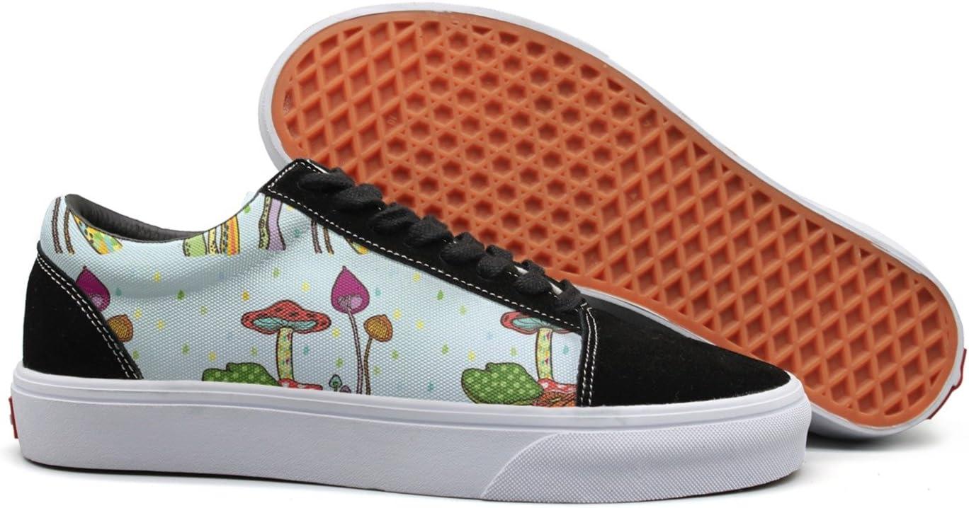 Art Mushroom Vibe Womens Casual Sneaker Lace Up Shoe