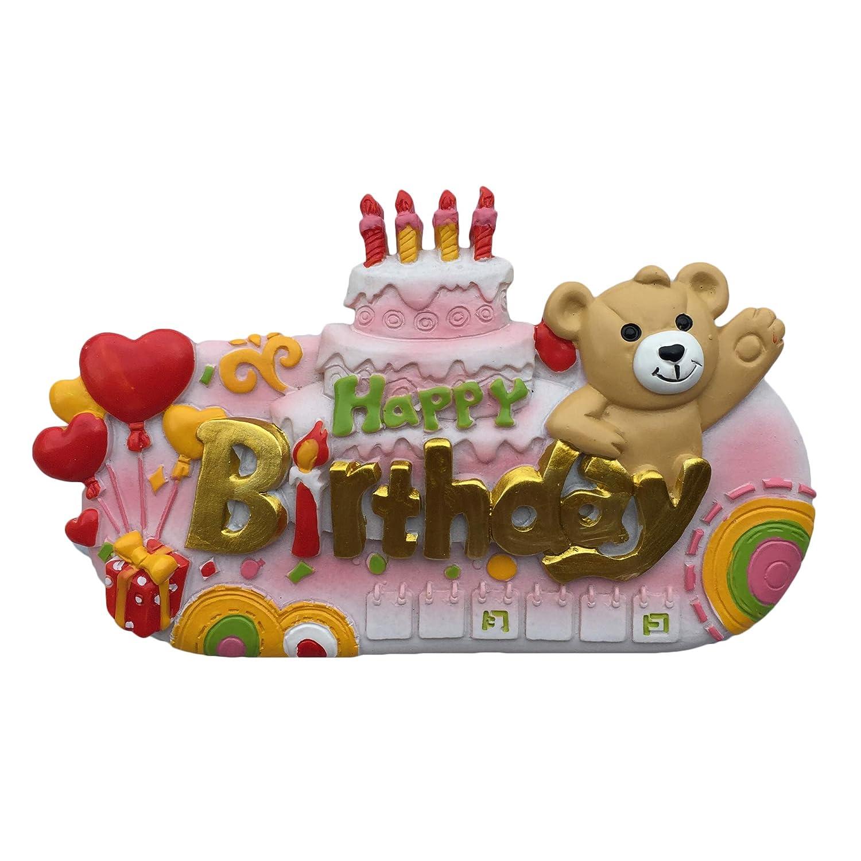 Incredible Cartoon Birthday Cake Refrigerator Magnet 3D Travel Sticker Gift Funny Birthday Cards Online Kookostrdamsfinfo