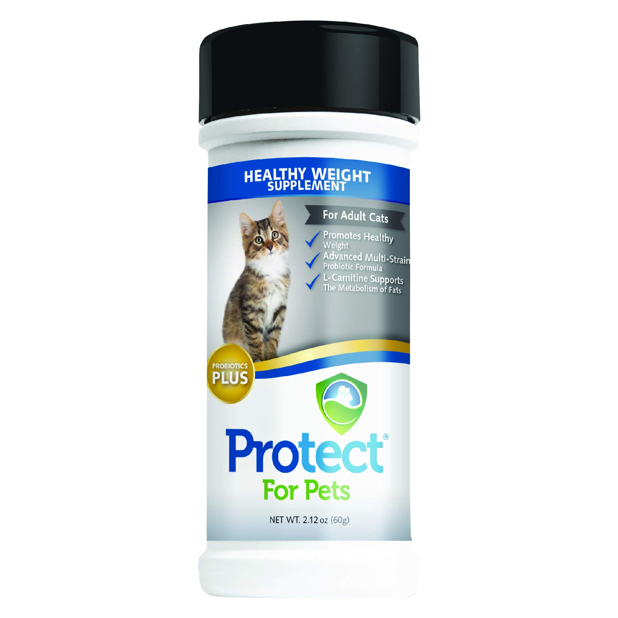 Protect for Pets Healthy Weight Supplement for Adult Cats, 2.12 oz. by Protect for Pets