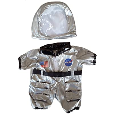 "Astronaut Costume Outfit Teddy Bear Clothes Fits Most 14"" - 18"" Build-a-bear and Make Your Own Stuffed Animals : Toys & Games"