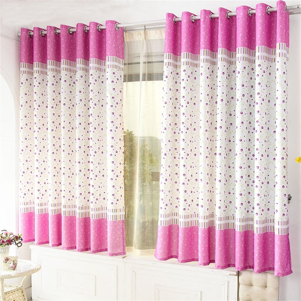 TIANTA- A Set Of 2 Pcs Bedroom Living Room Balcony Semi-shading Curtain Simple Modern Finished Product decorate ( Size : 3.42m (widthheight) )
